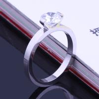 Titanium silver brief super bright  eternal ring the wedding finger ring heterochrosis
