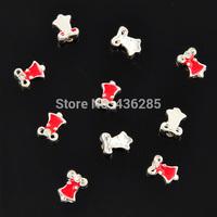 10 pcs/pack red bell Fashion cute 3D Alloy Rhinestone Nail Art Tips DIY Decoration NA107-11