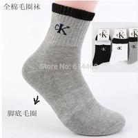 Men's Sport Socks Cotton Top Quality Athletic Socks 6pairs/lot Free shipment