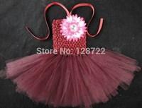 custom handmade girls tutu dress cute flower dress girls costume for birthday tutu dress princess flower fluffy dresses 8pcs/lot