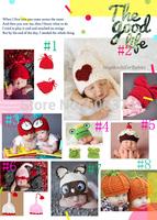 New Hot Sale Newborn Infant Knit Sweater Crochet Photography Prop Hats Handmade Baby Hat Children's Winter Beanies Cap