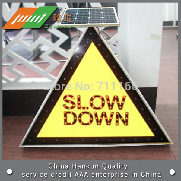 Solar LED traffic sign back instructions signs(China (Mainland))