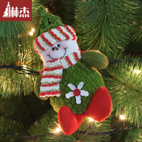 Cloth art 16cm Christmas tree ornaments Santa Claus Snowman Deer doll Christmas tree Decoration Supplies New Year costumes