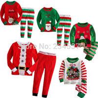 Details about Baby Kids Christmas Mickey Santa Claus Suit Nightwear Pajamas Sleepwear Homewear