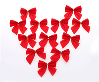 Wholesale Good Quality Chiristmas Decoration Small Red Butterfly height 5cm wideth 6cm, strip width 2.3cm MOQ: 36PCS!
