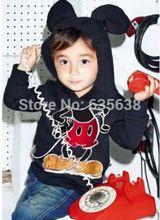 La nueva manera de la chaqueta para Niños Chicas Chicos Minnie Mouse con capucha lindo suéter con capucha Coat 1-6Y(China (Mainland))