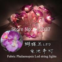 Hot Fabric Phalaenopsis LED Chandelier Luminous Light Luminaria Home Decoration Navidad Lamp Xmas Lighting String Pendant Lights