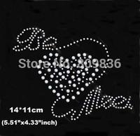 Hot selling Lovely heart design hot fix rhinestones heat transfer design iron on motifs patches,lovers rhinestones(ss-6029)