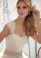 New Arrival Sweetheart Beading Belt Remove Jacket Backless Tulle Wedding Dresses Wedding Gown vestido de noiva
