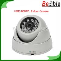2.5 inch plastic 3.6 mm Fixed lens 23 pcs IR LEDs IR Night Vision HDIS Dome Camera Indoor 800TVL eyeball Camera CCTV