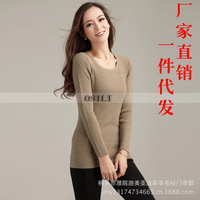 Women Sweater 2014 Autumn Winter Pullover knitted Sweater Long Sleeve O-neck Twist Sweaters 3 Colors