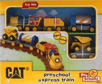 CAT model preschool express train toys Light  Sounds .juguetes cars train for boys