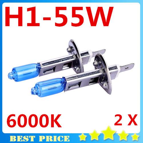 2X Fog Lights Auto Car Led H1 Headlight Bulb Lamp 12V 55W Super White 6000K Halogen Xenon Car Styling for Ford Free Shipping(China (Mainland))