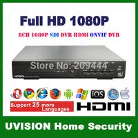 8ch 720P 30fps HD SDI DVR 8ch 720p 30fps playback CCTV NVR support 8CH 720P SDI+4CH 720P IP camera 2*4T HDD
