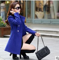 Casacos femininos Women Trench Coat With Good Quality Plus Size XXL Long Woolen Winter Jackets,woolen coat for women  s091