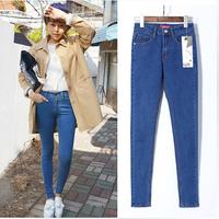2014 Autumn Women Pencil Pants High Waist Jeans Sexy Slim Elastic Jeans Skinny Pants Trousers Fit Lady jeans Women Jeans S-XL