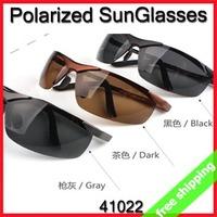 FREE SHIPPING Fashion Sunglasses Polarized Sun Glasses For Fishing Driving surf ski snowboard Police High Quality say hi 41022
