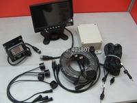 24 voltage truck parking system 7 inch monitor reverse camera 4 ultrasonic parking sensor