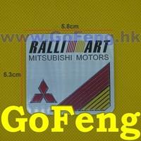 10PCS/LOT Ralliart Mitsubishi Motors Aluminium Stickers Car Logo Auto Emblem Badge RALLI-ART Decal