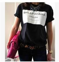 Hot Fashion 2014 New Women BALLINCIAGA T-Shirt Casual Short Sleeve Summer Top Lady Blouses Blusas Cloth S-XL