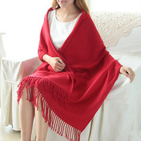 5 kinds Autumn -Witer Scarf fashion Style Pure color tassel Scarf  With Tassels For Unisex  Free Shipping 2014 JP11250-2
