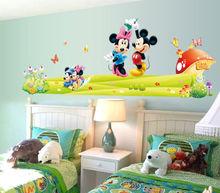 Mickey & Minnie Mouse Wall Sticker Boys Girls Kids Room Decor Mural Art Decals(China (Mainland))
