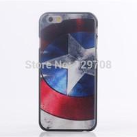 "For iPhone6 Cell Mobile Phone Bag Case Superman Batman Bat Man Captain American Cover For iPhone 6 Plus 5.5""  4.7""  1pcs/lot"