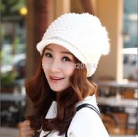 1 Pcs 2014 New Women Rabbit Hair Knitted Cap Winter warm hat MZ1553 8 Colors Free shipping