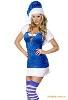 Europe and the United States velvet elegant winter dress christmas costume Dropship DL7154