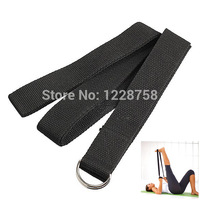 Free shipping   1 pcs Yoga Stretch Strap D-Ring Belt Figure Waist Leg Fitness Exercise Gym New T1209 P