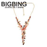 BigBing fashion jewelry fashion beads necklace chain short female  Pendant wholesale jewelry Q641