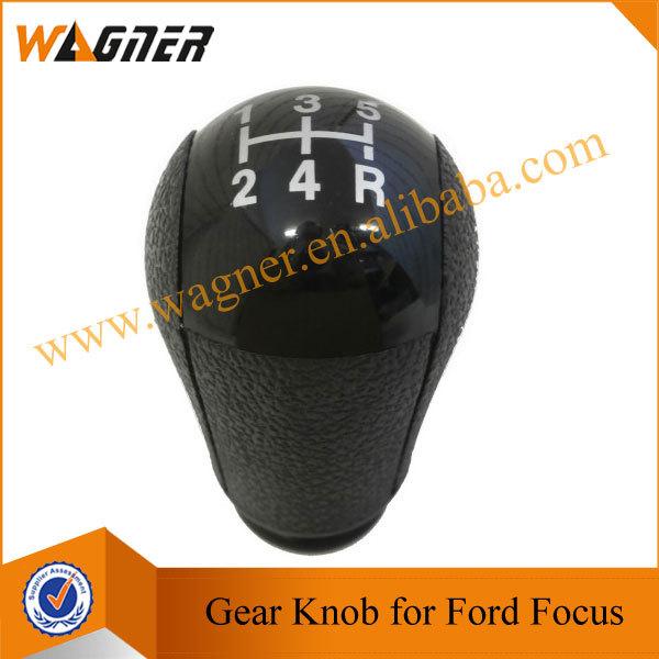 Free Shipping Gear Shift Knob 5 Speed Black Cap for Ford Focus MK2(04-08) Mondeo MK3 (00-07) MUSTANG (05-12) Fiesta MK6 (02-08)(China (Mainland))
