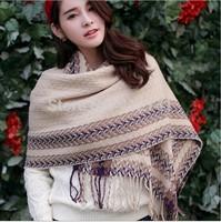 Winter New Pashmina Grid Scarves for Women Tassels Warm Scarf Collar Women's Muffler wholesale Pashmina Shawls M839