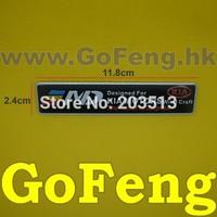 10x Aluminium Emblems Car Decoration Stickers Cool DIY Badge for KIA MOTORS embs free shipping