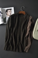 New 2014 Brand Pullovers mens sweaters  winter fashion cardigan men asymmetrical colorant match wool oversleeps sweater S-XXL