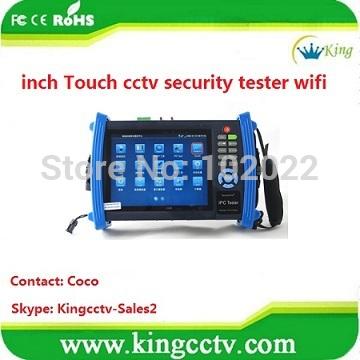 touch screen DC12V cctv security test Equipment ipc PTZ tester wifi (HK-TM806IPC)(China (Mainland))