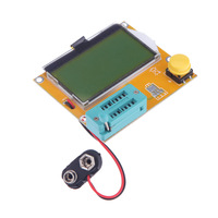 LCD Display 128*64 yellow-green Backlight ESR Meter LCR led Transistor Tester Diode Triode Capacitance MOS PNP/NPN