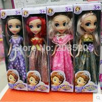 Free EMS 36pcs/lot (4pcs/set) 26CM=10inch Princess Sofia Toys Girl Doll Sofia the First Toys Wholesale