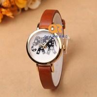 High quality designer watches women fashion brand female quartz watch Geneva genuine leather bracelet watch best gift item