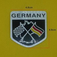 100pcs/lot 4.8*4.8cm Germany flag Metal Emblems Car Decoration Stickers Cool DIY Badge free shipping