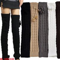 WIIPU wholesale winter wool socks knitted socks knee socks leg sets piles female D1011