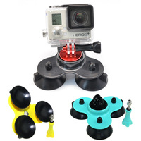 High Quality Gopro Accessories Go pro Removable Car Suction Cup + Aluminum Adapter Mount +Screw For Gopro Hero 4 3+/3/2/1 #70PP