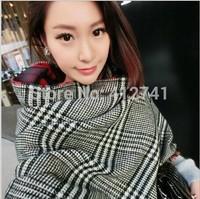 Winter New Fashion British Two side grid Scarves Women Big size Thicker Warmth Knitted Tassels Scarf Collar Muffler Shawls
