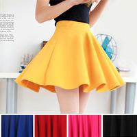New Spring Women's skirts Short Saia Pleated skirt With Leggings Black 5 Color