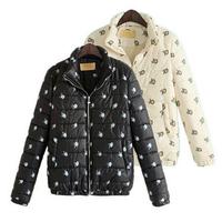 winter down jackets 2014 high quality brand little swan print women jacket winter parka ladies winter coat women winter jacket