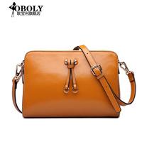 Genuine leather women's handbag messenger bag small bag 2014 women's cowhide handbag trend rivet shoulder bag handbag