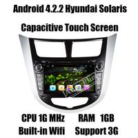 Glonass Android 4.2.2 Car GPS DVD for Hyundai Solaris Verna Accent Autoradio GPS+CPU 1G Mhz+RAM 1GB+iNand flash 8GB+3G Wifi Host