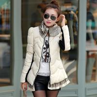 2014 winter jacket women short warm coat fashion outdoor parkas free shipping