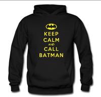 2014 new winter sweater hoodie for men and women call Batman Keep Calm and Call Batmanhoodies fleece man hoody cotton sweatshirt