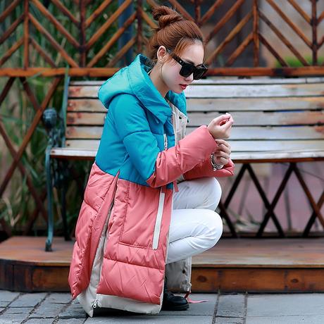 Женские пуховики, Куртки WAQIA 2015 blockingcolour женские куртки